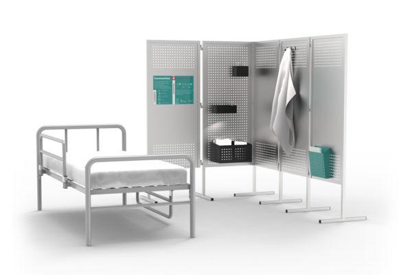 Biombos metálicos para hospitales